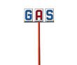 Tall Vintage Gas Sign Isolated