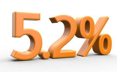 5.2 % 3d Schrift orange