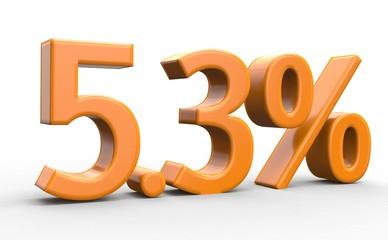 5.3 % 3d Schrift orange