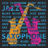 Jazz saxophone, illustration for poster, cd cover etc. - 41178290