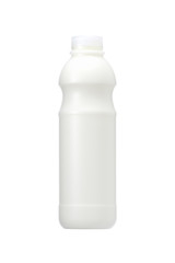 a milk bottle isolated on a white background
