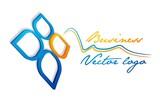 3D blue orange leaf logo