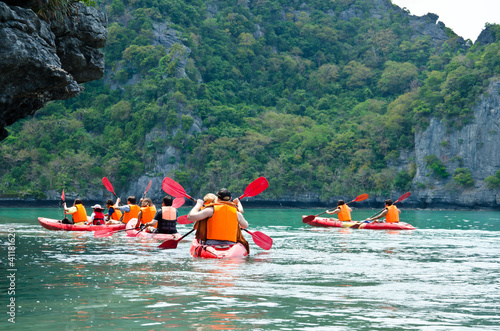 traveler kayaking