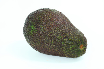 Avocado in white isolate