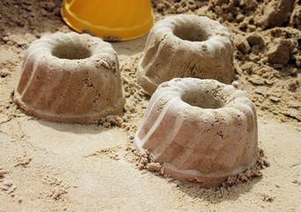 Kuchen aus Sand
