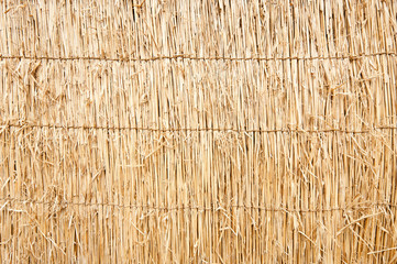 Texture of sewed yellow straw sewed