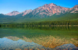Nature landscape with mountain lake in British Columbia, Canada