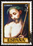 Postage stamp Spain 1970 Ecce Homo, painting by Luis de Morales poster