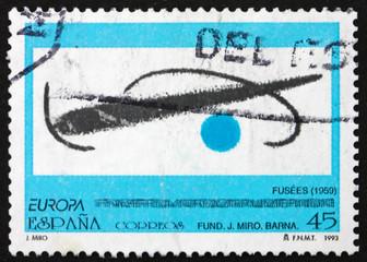 Postage stamp Spain 1993 Fusees, by Joan Miro