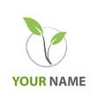 Logo abstract green environment # Vector