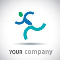 Logo running man # Vector