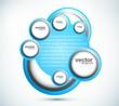 new Vector swirl set blue circle design