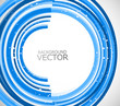 Abstract technology lines blue circle vector