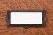 Blank File Drawer Label