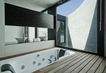 Interior modern bathroom
