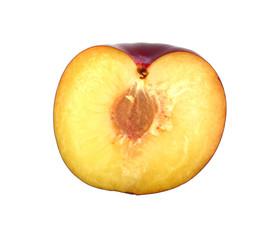 Half of plum