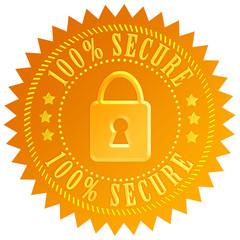 Secure padlock emblem