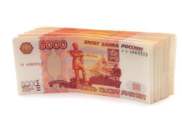Купюры номиналом 5000 рублей