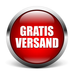 red button - Gratis Versand