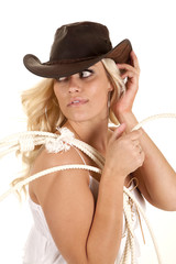 Cowgirl rope look back