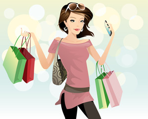 shopping  young women