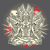 Fototapety Stylish grunge illustration
