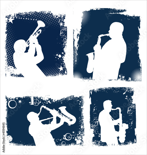 Jazz music background set