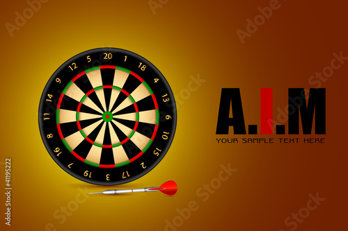 Aim Background with Dart Board