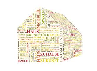 Haus - 3D Wortwolke