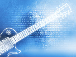Electric guitar technology background