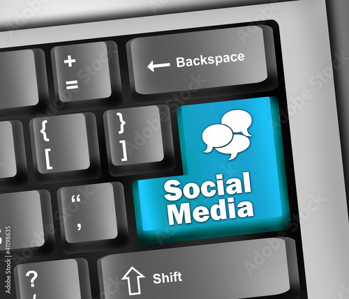 "Keyboard Illustration ""Social Media"""