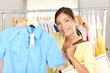 Woman shopping clothes