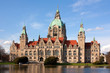 canvas print picture - Neues Rathaus in Hannover, New City Hall, Hanover