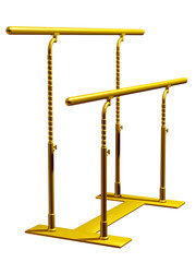 Parallel bars in gold