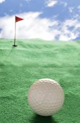 Pallina sul campo da golf