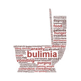 Bulimia Nervosa symbol isolated on white background
