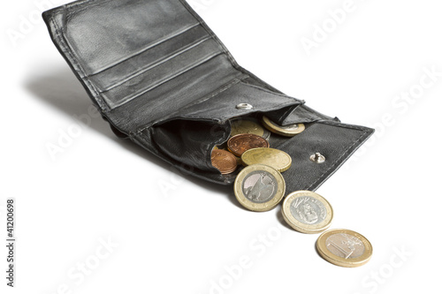 loose cash falling out of wallet