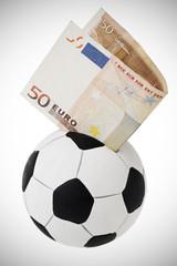 Fifty euro going into football money box