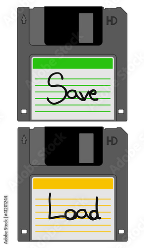 Load and save diskettes