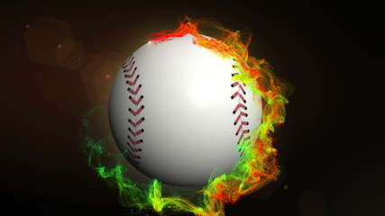 Baseball Ball in Particle Ring - HD1080