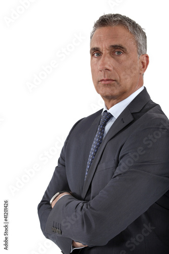 Portrait of a stoic businessman