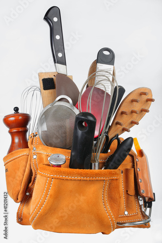 Chef Tools in Suede Tool Pouch