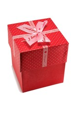 Gift red box with bow.