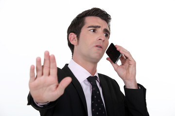 Businessman with a phone