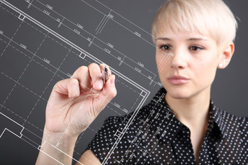 Engineer drawing plan