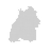 Pixelkarte - Bundesland Baden-Württemberg
