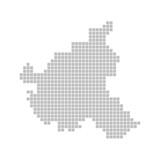 Pixelkarte - Hamburg