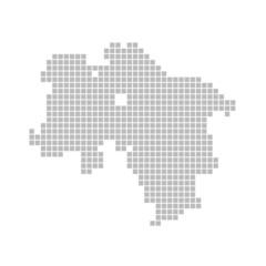 Pixelkarte - Bundesland Niedersachsen