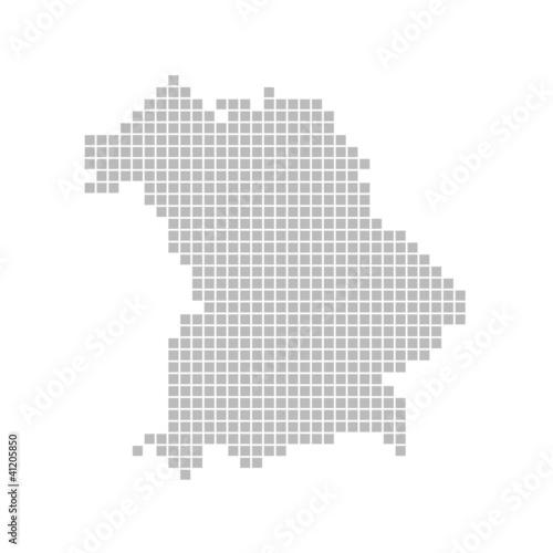 Pixelkarte - Bundesland Bayern