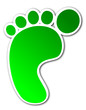 Sticker grüner Fußabdruck abstrakt